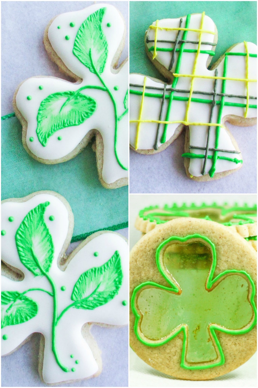 Shamrock Sugar Cookies for St Patrick's Day