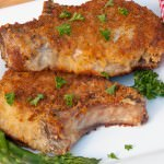 Panko Crusted Pork Chops