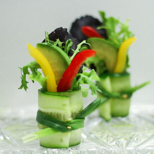 Mini Cucumber Caterpillars Recipe: Cucumber Salad Bites