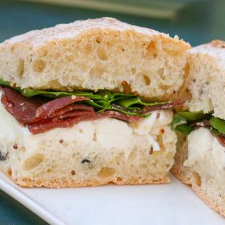 Bresaola Mozzarella Sandwich