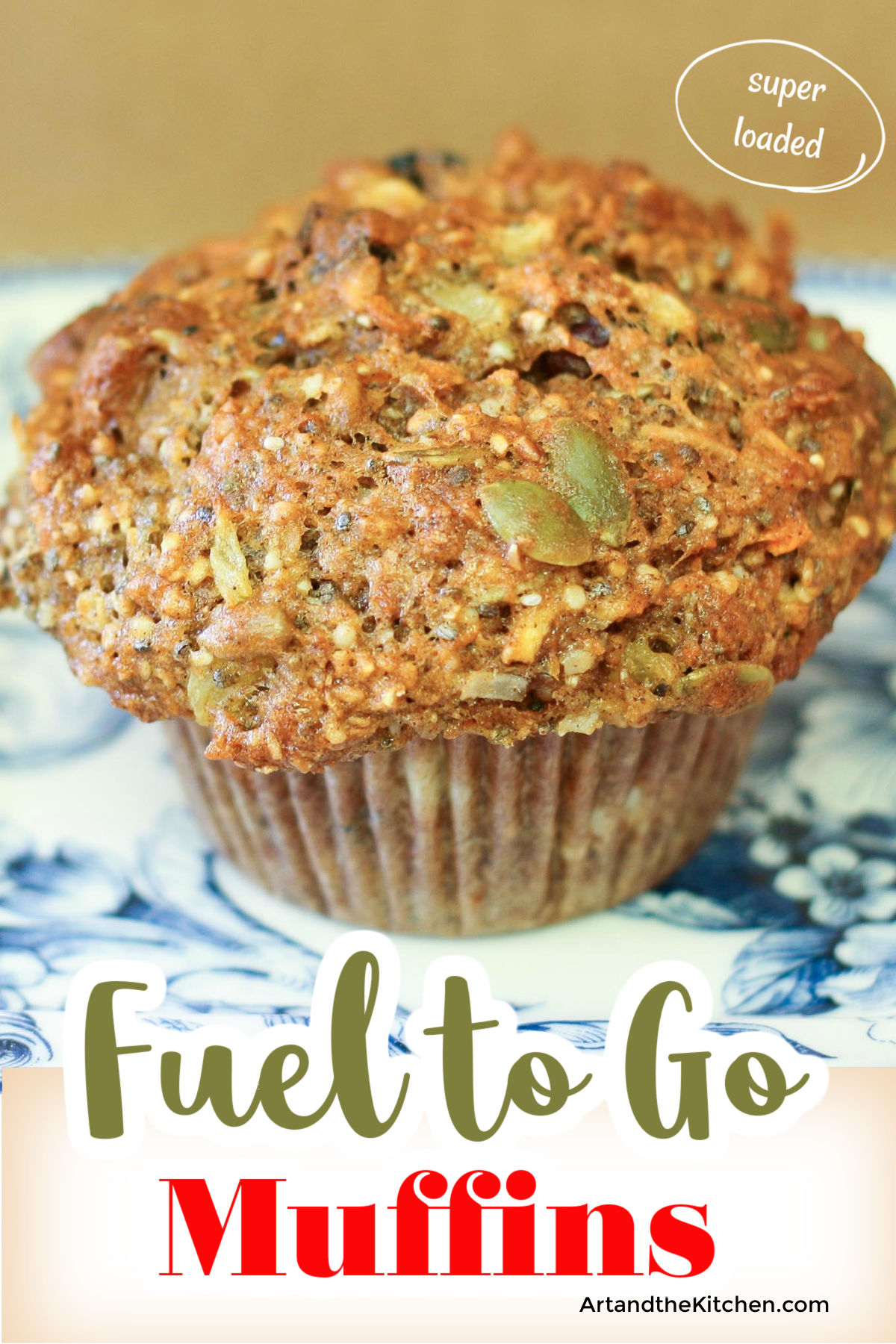 Fuel to Go Muffins are seriously loaded with chia, hemp, sunflower, pumpkin seeds. As well are dried fruit, carrots and multigrain flour. via @artandthekitch