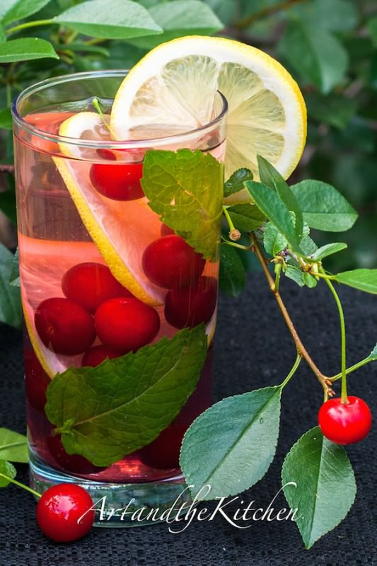 sour cherry antioxidant water
