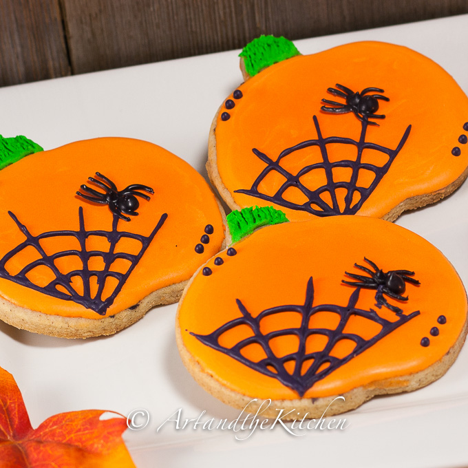 Pumpkin Spice Halloween Cookies
