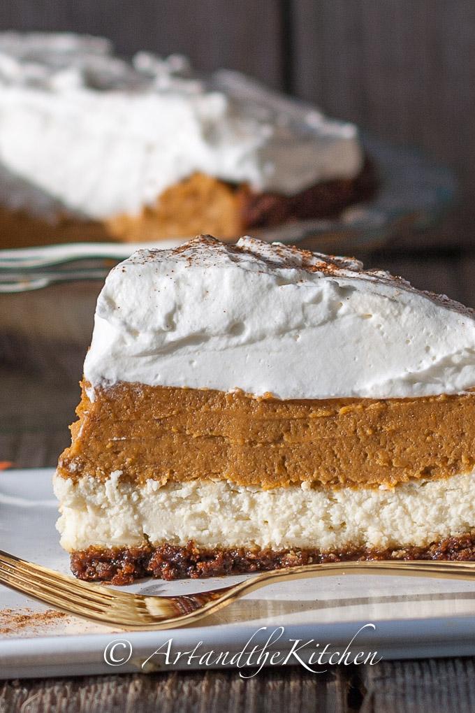 Pumpkin Cheesecake Pie | Art and the Kitchen