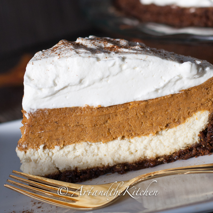 Pumpkin Cheesecake Pie | Art and the Kitchen