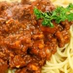spaghetti and homemade meatsauce