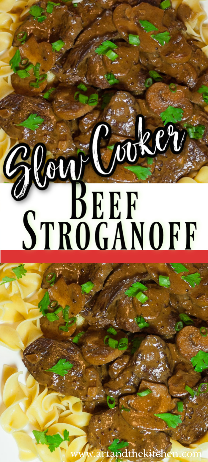 This recipe for Slow Cooker Beef Stroganoff makes fork tender beef in a rich savory gravy.