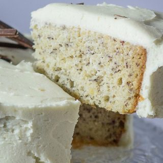 moist banana cake with cream cheese frosting