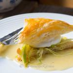 poached eggs Beurre Blanc sauce