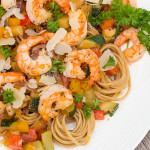 shrimp and whole grain pasta