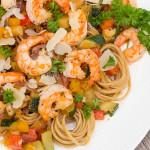 shrimp and whole grain pasta