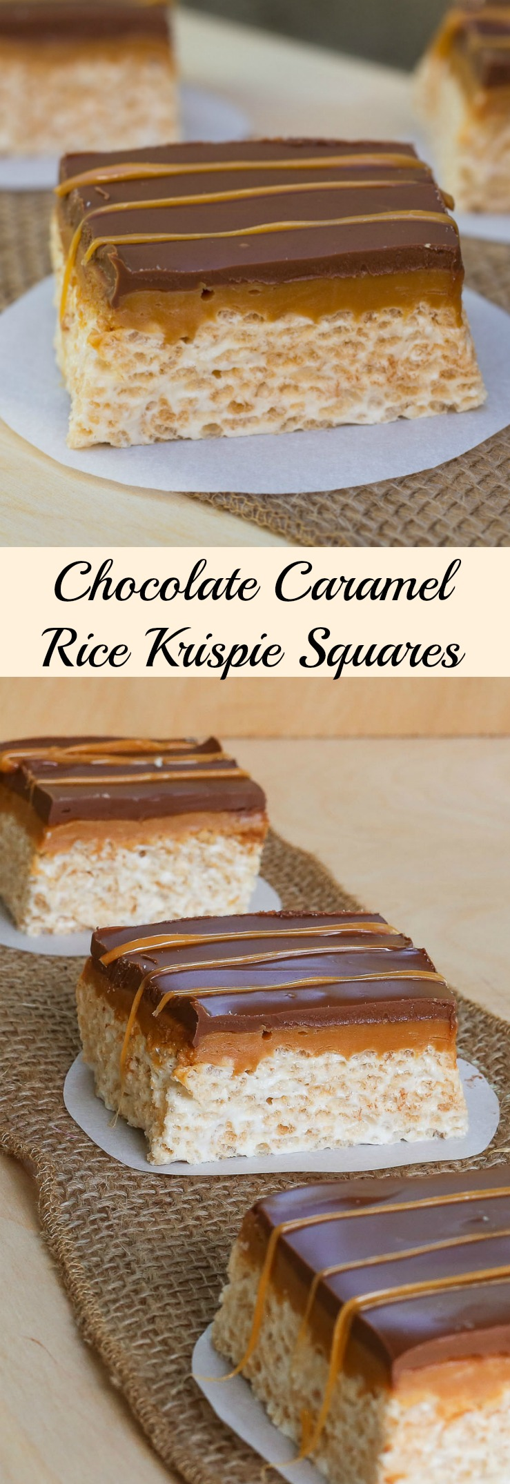Chocolate Caramel Rice Krispie Squares