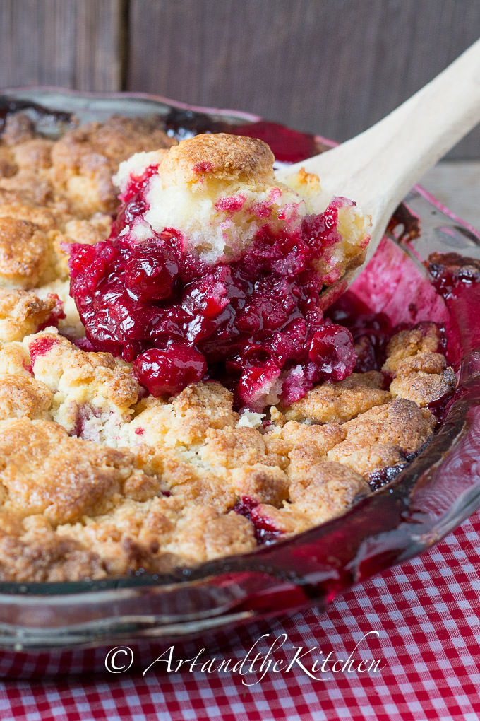 Sour Cherry Cobbler