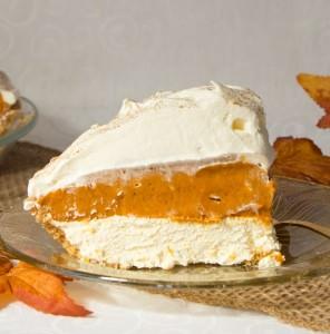 No Bake Triple Layer Pumpkin Pie Art And The Kitchen