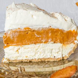 No Bake Triple Layer Pumpkin Pie