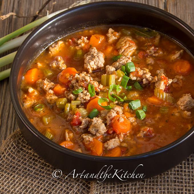 Italian Turkey Burger Soup | Art and the Kitchen
