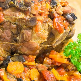 Roast Pork Mushroom Tomato Gravy