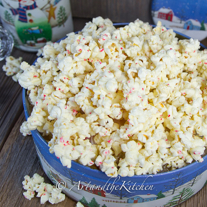 White Chocolate Candy Cane popcorn