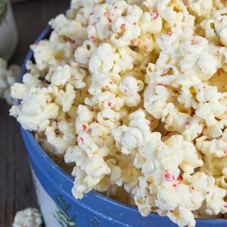 White Chocolate Candy Cane Popcorn