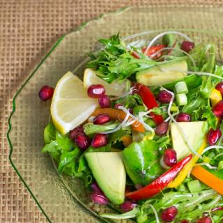 Pomegranate Salad with Pomegranate Dressing