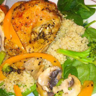 Lisa's Chicken Quinoa Veggie Plate