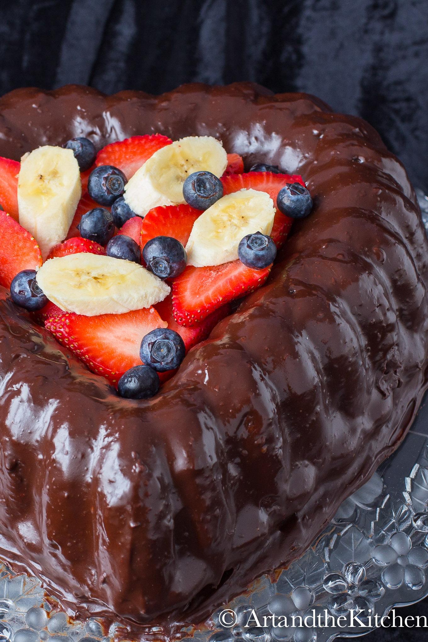 Chocolate Ganache Valentine Cake