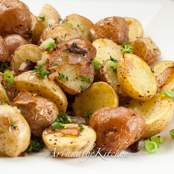 Parmesan Oven Roasted Potatoes   Art and the Kitchen