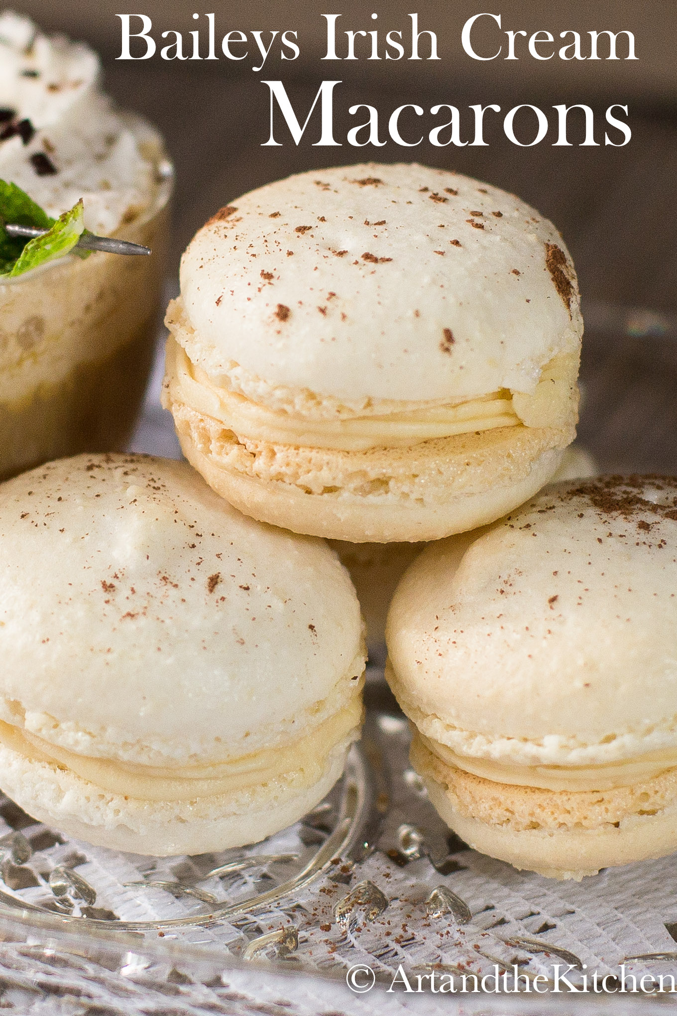 This is a scrumptious recipe for Baileys Irish Cream Macarons. Easy to follow recipe for perfect macarons!