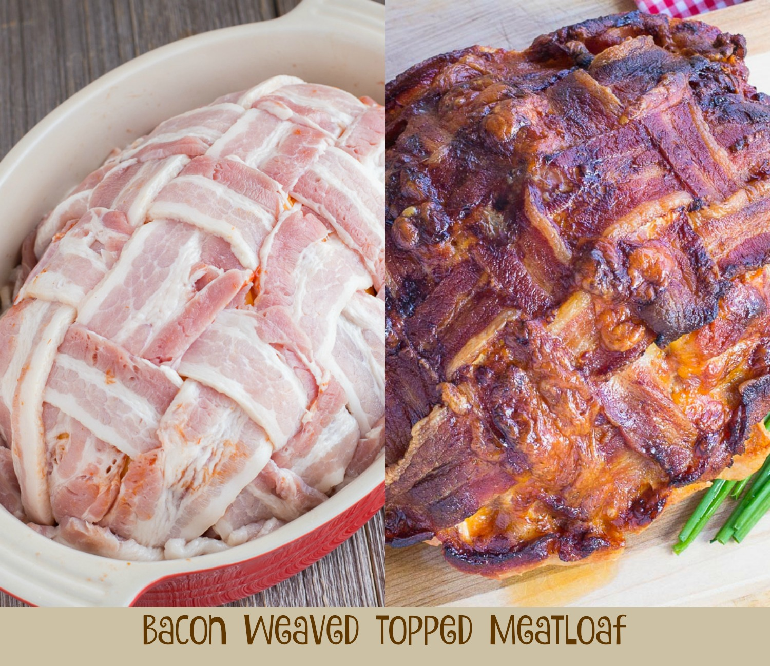 Bacon weaved meatloaf