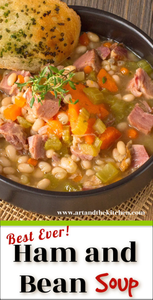 A Best Ever recipe for Ham and Bean Soup! An all-time favourite recipe for leftover ham, so hearty and delicious. via @artandthekitch