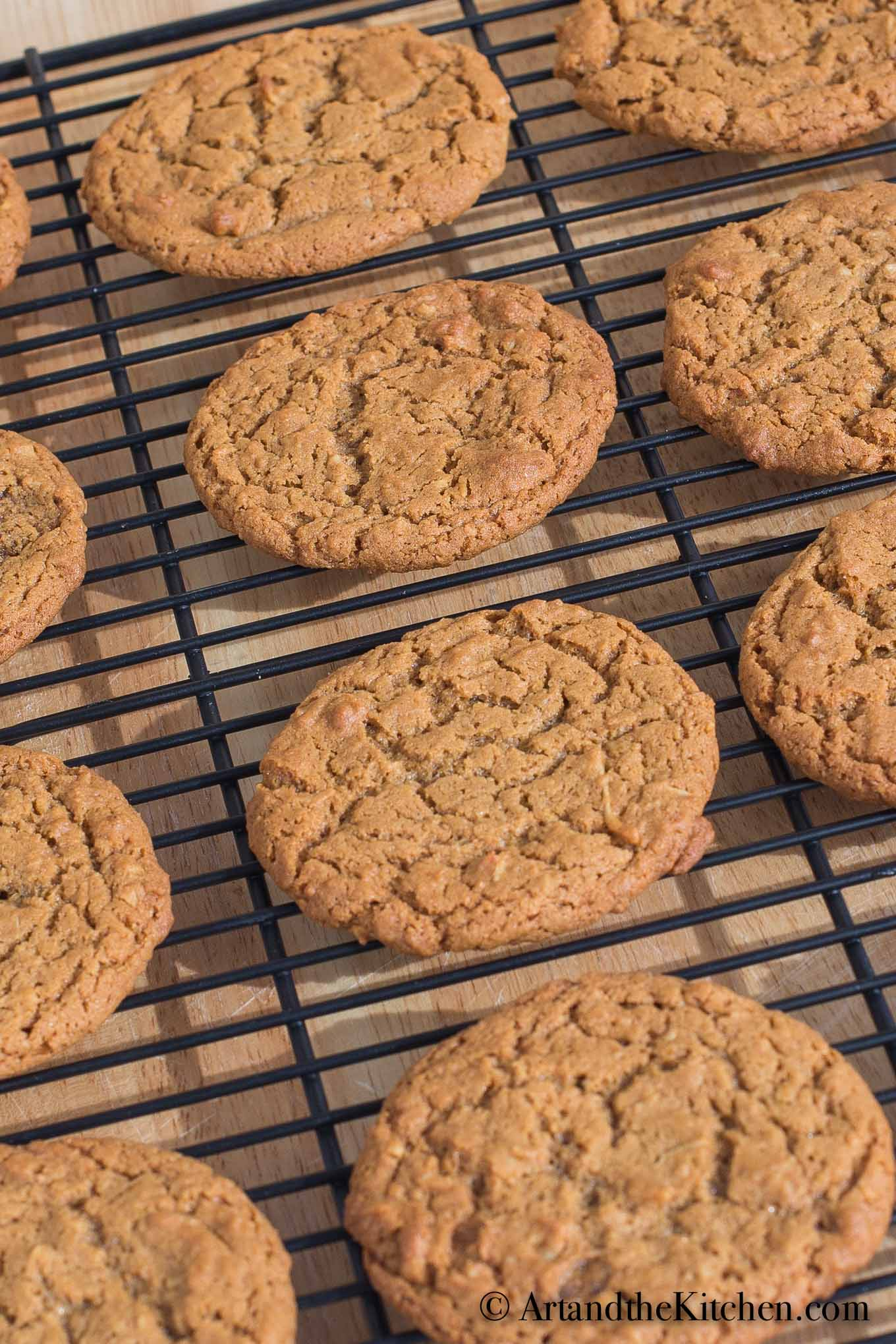 Fancy Molasses Coconut Cookies