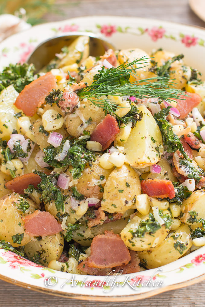 Bacon Kale Potato Salad