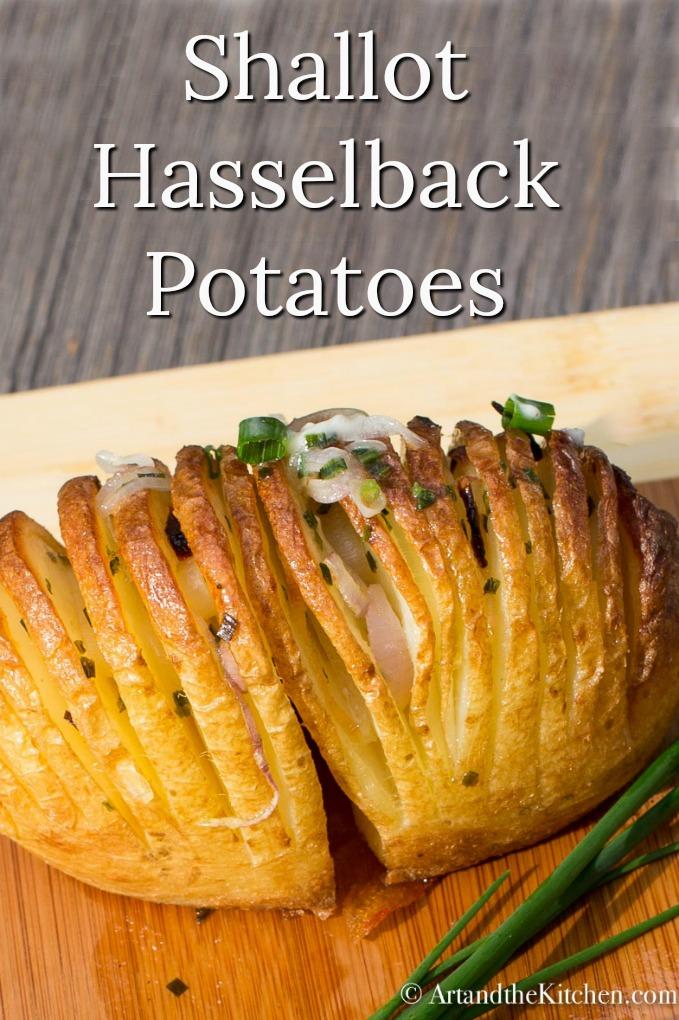 Shallot Hasselback Potatoes