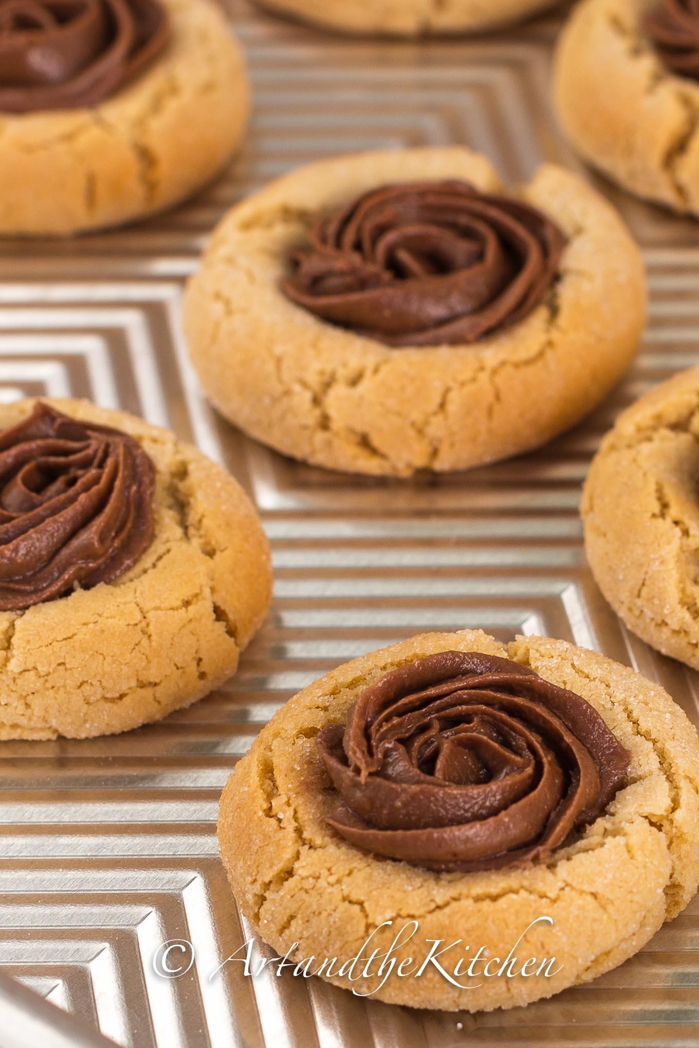 Peanut Butter Thumbprint cookies