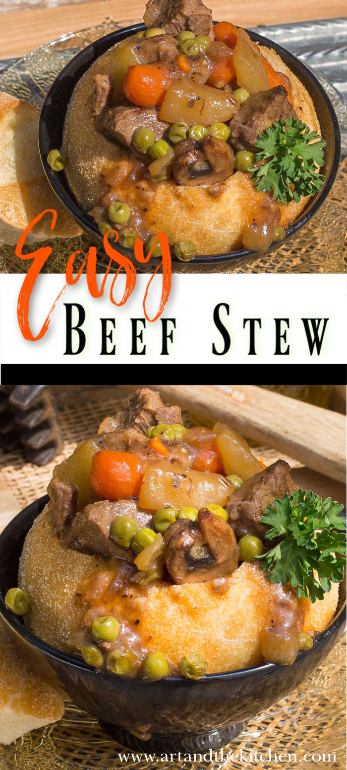 A quick and easy beef stew recipe using leftover roast beef. via @artandthekitch