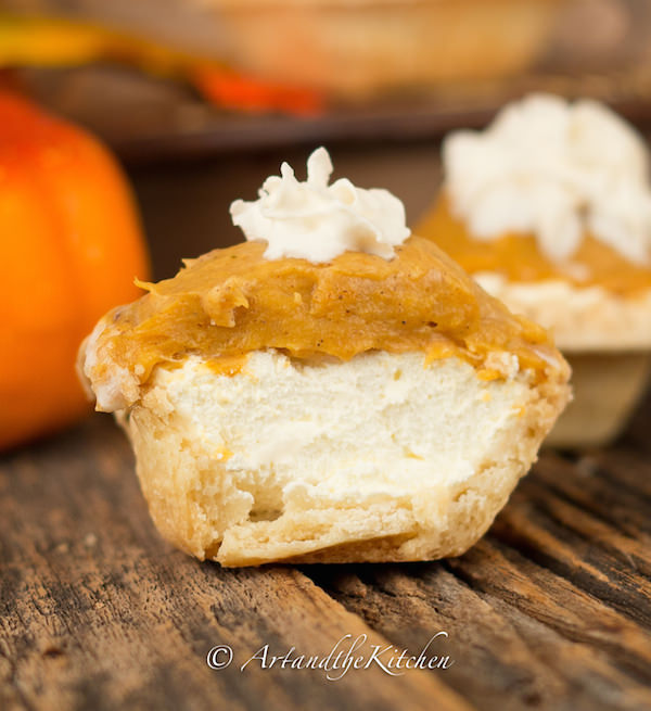 Pumpkin Cheesecake Tarts are a great no bake pumpkin recipe with ...