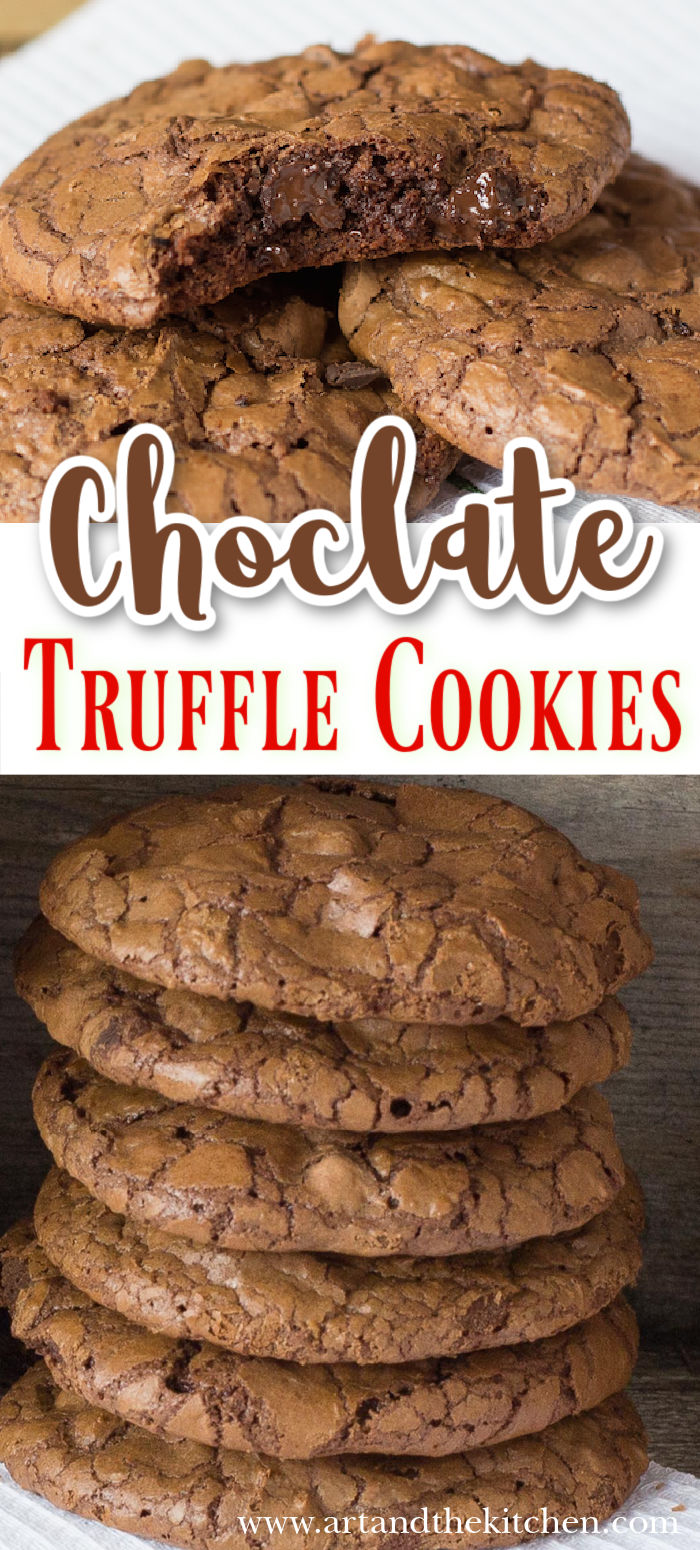 Chocolate Truffle Cookies are the ultimate chocolate lover's cookie. Soft, chewy inside and crisp on the outside.