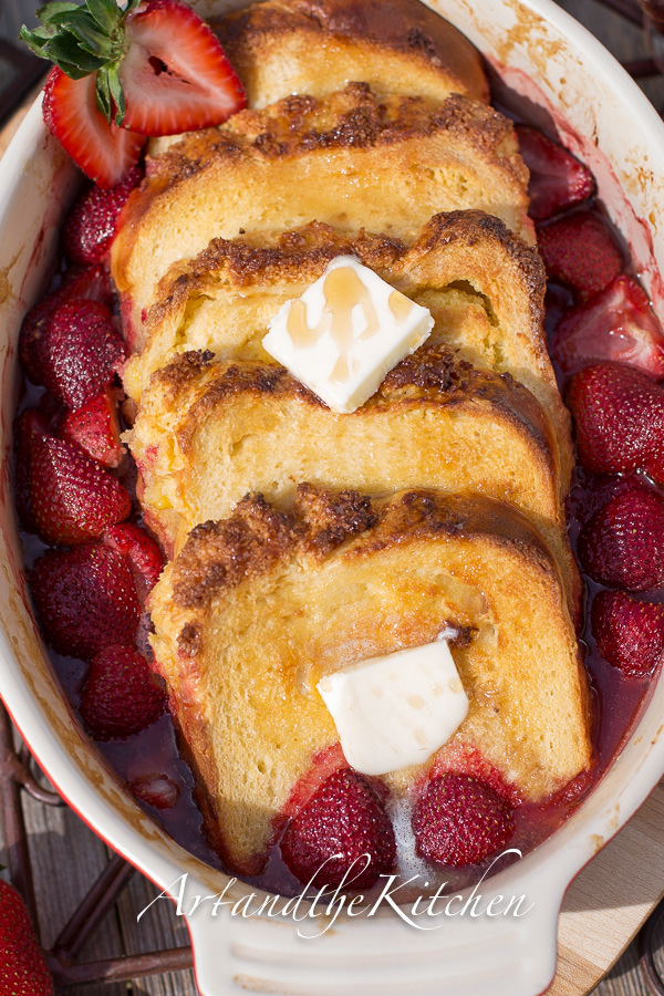 Strawberry Coconut Bread French Toast