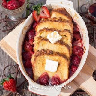 Coconut bread strawberry french toast