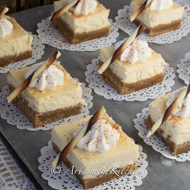 Eggnog Cheesecake Squares