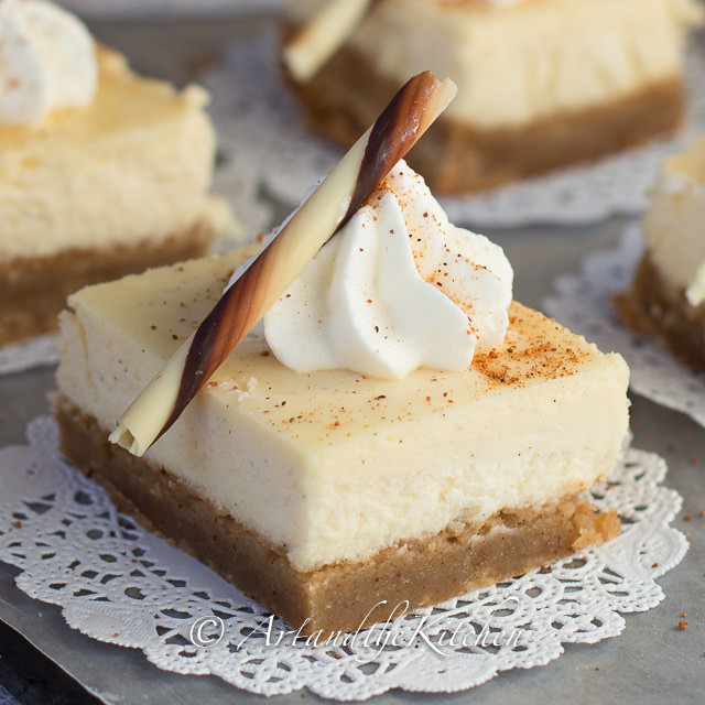 Egg Nog Using Heavy Cream: Eggnog Cheesecake Squares