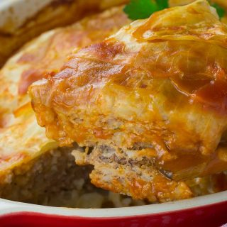 Turkey Cabbage Roll Casserole