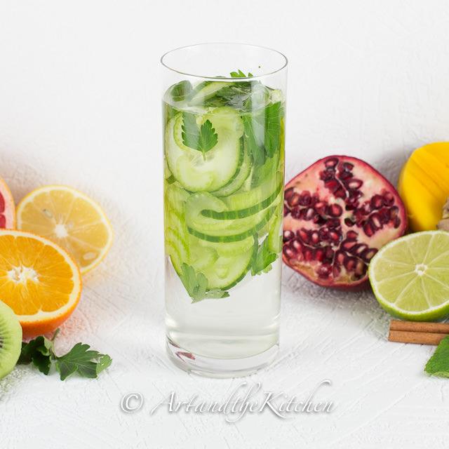Cucumber Celery Parsley Water