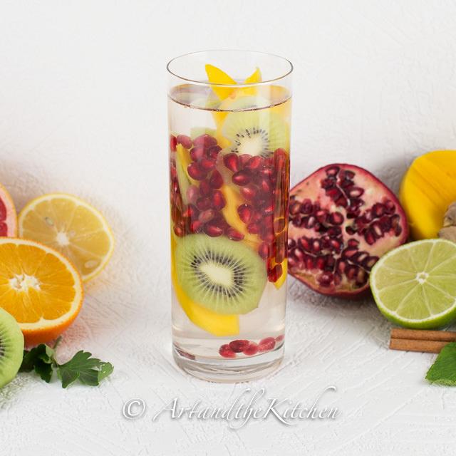 Pomegranate Kiwi & Mango Water