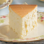 slice of creamy New York Cheesecake on a plate