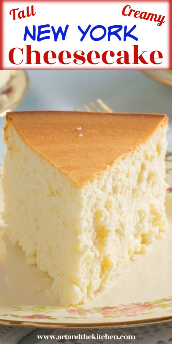 Incredible cheesecake recipe that is tall, creamy and smooth. I make this recipe without a crust, but if you prefer a simple graham crust will work great.