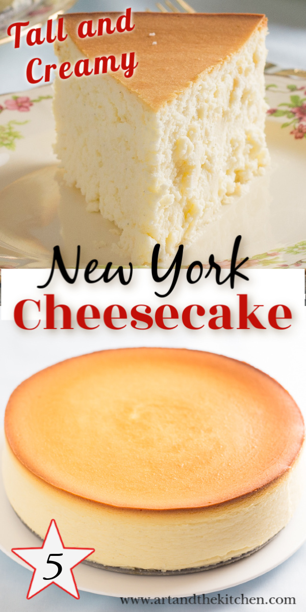 Incredible cheesecake recipe that is tall, creamy and smooth. I make this recipe without a crust, but if you prefer a simple graham crust will work great.  via @artandthekitch