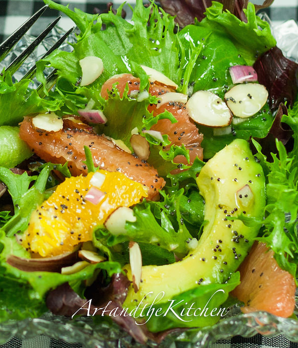 ... tastes great served with a side salad such as Avocado Citrus Salad
