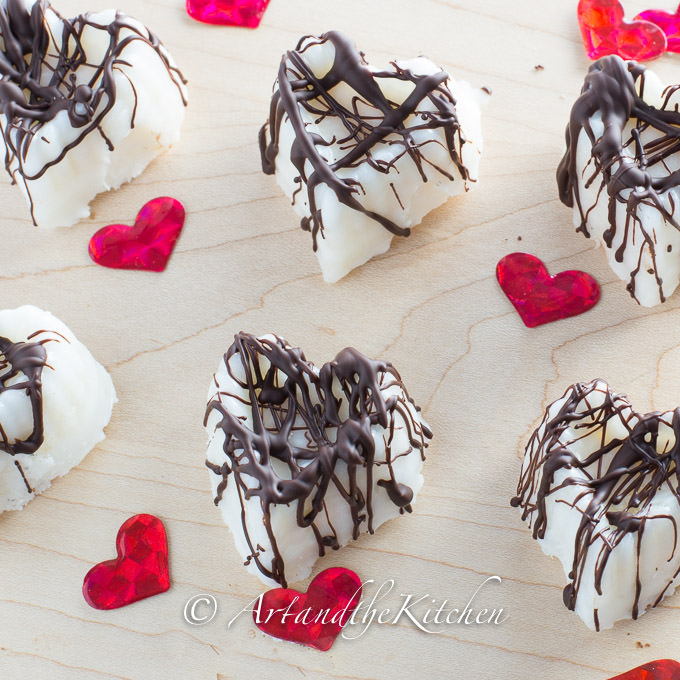 heart coconut oil bars