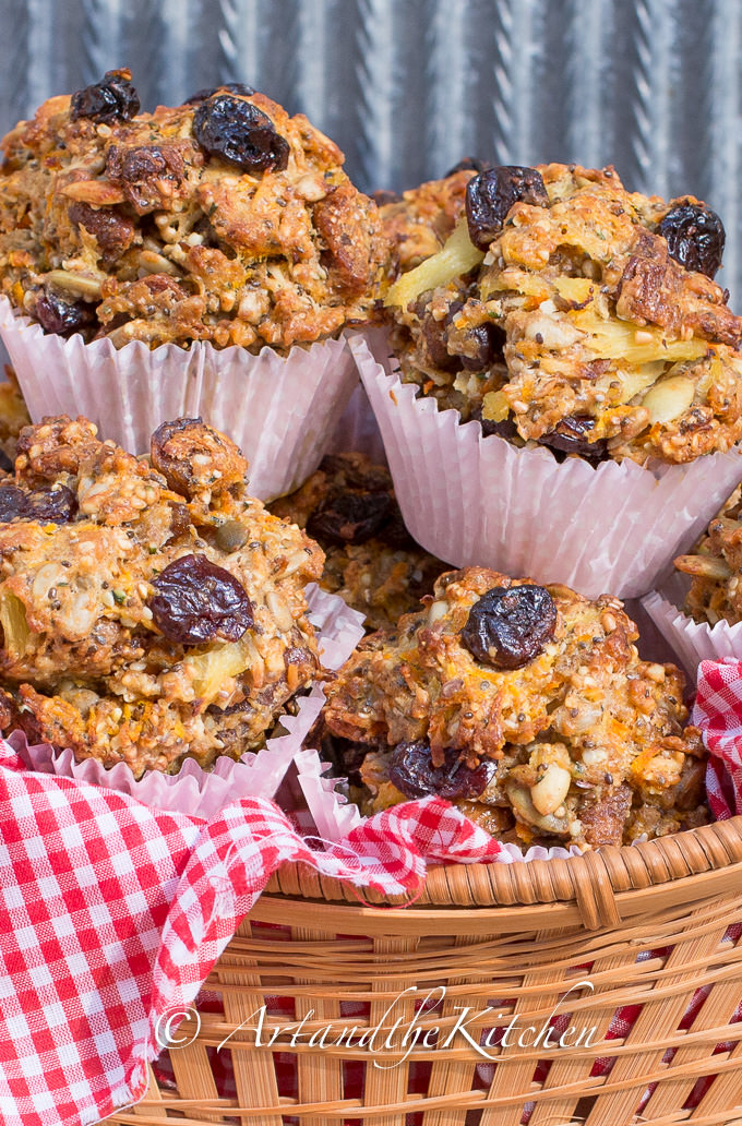sour cherry and fig whole wheat muffins 2